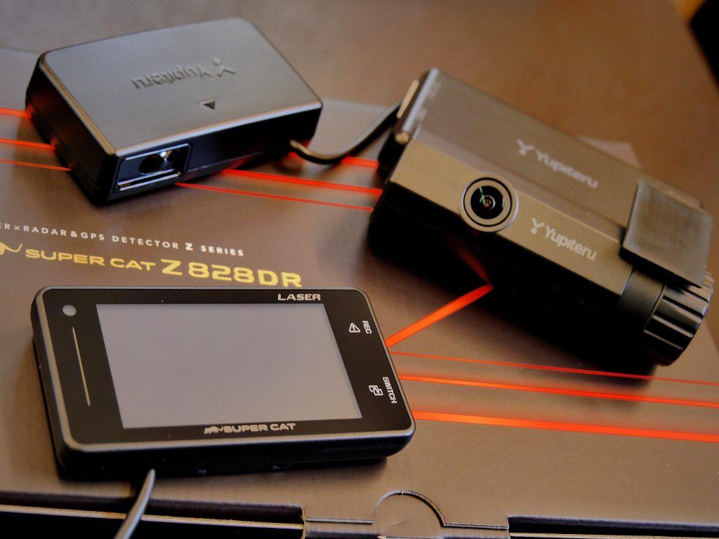 YUPITERU Z828DRレーダー探知機レーザー探知機ドライブレコーダー