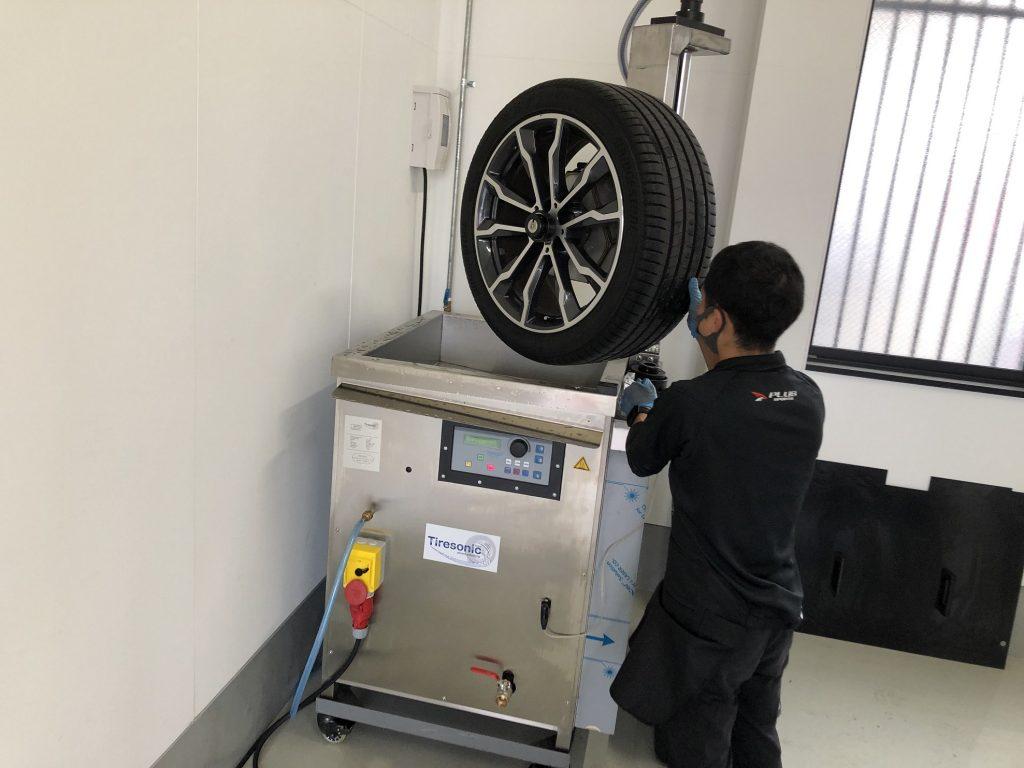 BMWホイール洗浄機